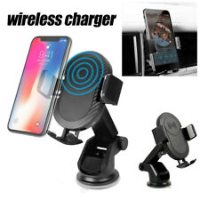 Qi Wireless Car Quick Charger 2 in 1 Air Vent Mount Holder For iPhone X 8 Plus