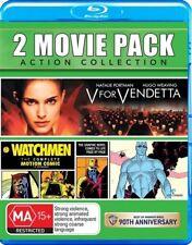 V For Vendetta / Watchmen ( Blu-ray, 2-Disc Set )