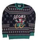 Ugly Christmas Sweater Unisex Xmas Metal Sleigher Santa Sweatshirt