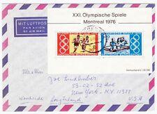 XXI Olympische Spiele 1976 Montreal Block Übersee Luftpost München USA (A1262)