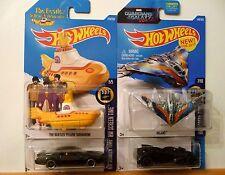 Hot Wheels.MOVIE CARS-#8: YELLOW SUBMARINE, MILANO, K.I.T.T., BATMOBILE