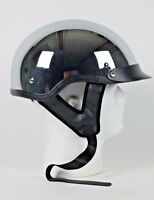 Chrome Mirror Motorbike Bike Shorty Biker Half DOT Motorcycle Helmet (XS - 2XL)
