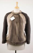 NWT BRUNELLO CUCINELLI Women's Brown Mink Fur Jacket Size 6/42 $23955