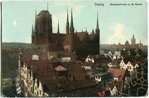 DANZIG /GDANSK Oberpfarrkirche zu St. Marien 10er Ja. color