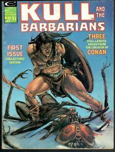 KULL And The BARBARIANS #1 Marvel Magazine 1975 VG 4.0