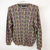 TOSANI Canada Mens Cotton Pullover Sweater Biggie Multicolor Hip Hop Sz XL