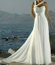 Size 14-16 Gorgeous Greek Godess White Deb Dress/Debutante/Train Wedding Gown