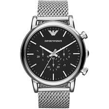 Nuevo EMPORIO ARMANI para hombres Genuino Reloj Grande De Acero De Malla Luigi-AR1808-RRP £ 249