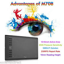 UGEE M708 10x6'' Digital USB Grafik-Tablet Grafiker Grafiktablett Touchpad Pen