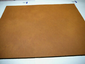 """Large smooth Leather panels 4 pieces 18"""" x 24"""" first Quality SADDLE"""