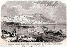 Termini Imerese bombardata dal Castello.Spedizione dei Mille.+ Passepartout.1860