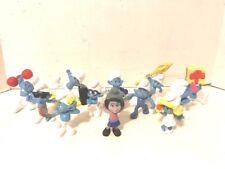 Smurfs Lot of 12 PVC Figures Smurfette Vanity Grouchy Jokey Peyo McD's 2011