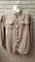 Duluth Trading Co Flannel Long Sleeve Button Down Shirt Striped Thick Mens XLT