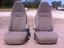 97+ GM CHEVY EXPRESS GMC SAVANNA TAN CLOTH BOX WORK VAN CAMPER BUCKET SEATS