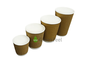 1000 Disposable Coffee Cups Paper Cups Kraft Cups For Hot And Cold Drink Vending
