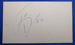 JOE DUMARS HOF signed auto autograph auto 3x5 Detroit Pistons