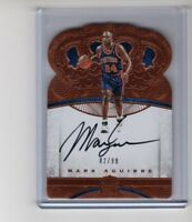 2016-17 Panini Preferred #175 Crown Royale Mark Aguirre AUTO #'d /99 (PISTONS)