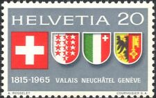 Switzerland 1965 Coats-of Arms/Heraldry/History/Flags 1v (n45455)