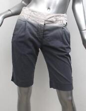 PRADA Womens White+Gray Ombre Gradient Dip Dyed Bermuda Shorts 40