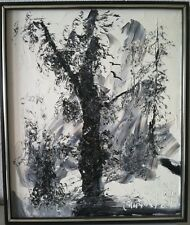 Morris Katz  Signed 1981 Oil Painting Winter landscape