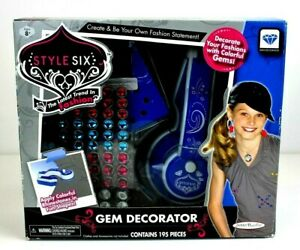 Style Six Gem Decorator 195 Pieces, Decorate Your Fashions with Gems Rhinestone
