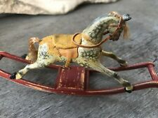 Hand Carved Wooden Miniature Rocking Horse by Barbara Logan