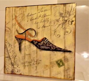 """""""Shoe""""  wall hanging (French Country decor) Metal Sign 12'' X 12'' Picture"""