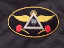 Widows Sons Lady Masonic Oval Patch Roses Iron Sew Freemason Fraternity NEW!