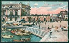 Napoli Città Stazione Marittima Barche cartolina VK1056