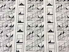 RPF28A Old Style New York City Fire Escape Pigeon Bird Cotton Quilting Fabric