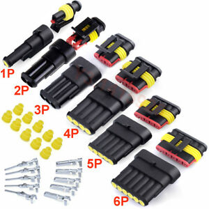 1 2 3 4 5 6Pin Way Seal Car Waterproof Electrical Wire Superseal Connector Plug