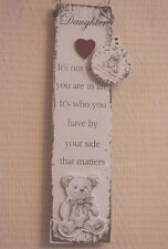 Daughter Wall Plaque With Keyring It's Not Where You Are In Life Its Sign F1388E