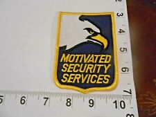 MOTIVATED SECURITY SERVICES SHOULDER PATCH  Free Shipping