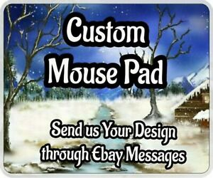 Custom Printed Mouse Pad Personalized Photo, logo, design Add Your Own Image NEW