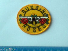 PUNK ROCK HEAVY METAL MUSIC SEW ON / IRON ON PATCH:- GUNS & ROSES (b) SIZE A
