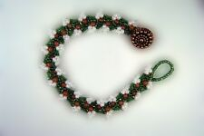 Red Aventurine Flower Bracelet