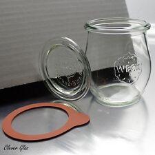 8 Weckgläser 220ml Mini Tulpenform mit Deckel & Ringen - Einmachglas Einkochglas
