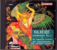Edward Downes: gliere Symphony No. 2 zaporozhy Cossacks CD Chandos sonfonie 1992