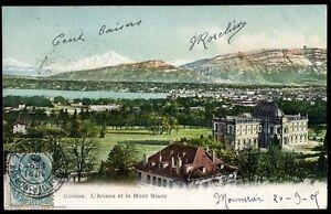 CP SUISSE    GENEVE  l'ariana et le mont blanc    (59)