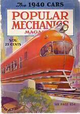 1939 Popular Mechanics November-The 1940 cars;Billiards