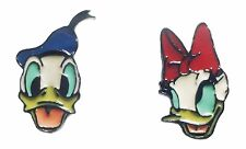 Donald and Daisy Duck Character Earrings 1 Pair Stud Posts