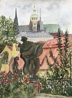 Hildegard Chartée Blick auf Hradschin Prag Tschechien Stadtansicht Urlaub