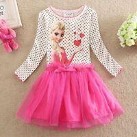 NWT Girls Frozen Princess Elsa Holiday Tutu Dress Kid Clothes Size 2 3 4 5 6 7 8