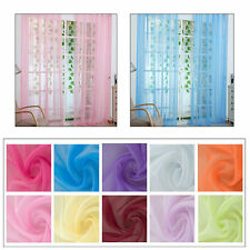 "2Pack Lace Sheer Voile Door Window Curtain Drape Panel 39""W x 78""L"