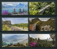 New Zealand NZ 2018 MNH Cycle Trails 6v Set Cycling Bridges Mountains Stamps