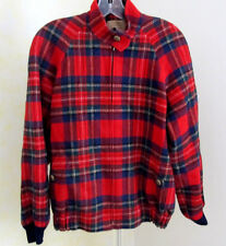 Vintage Women's KNOCKABOUTS by PENDLETON Lined Red Plaid Small Bomber Jacket