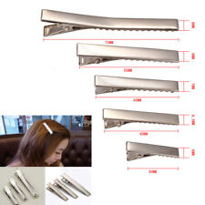 ALLIGATOR HAIR CLIPS 30mm 45mm 75mm SILVER METAL CROCODILE FOR BOWS BARRETTE