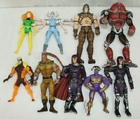 "MARVEL TOY BIZ 1995-2000'S 7"" TO 5"" TALL X-MEN VILLAINS LOT OF 9 ACTION FIGURES"