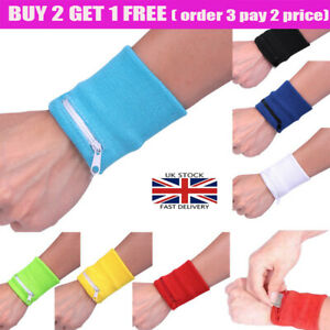 Wrist Wallet Pouch Band Zipper Running Travel Cycling Safe Bag Sports Gym UK