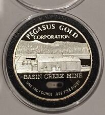 1990 Limited Edition Proof Pegasus Gold Corp 1 Troy Oz .999 Fine Silver Round Ag